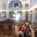 In the light blue Baghdadi Magen David synagogue