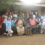 The group with an Indian Jewish family in Alibag